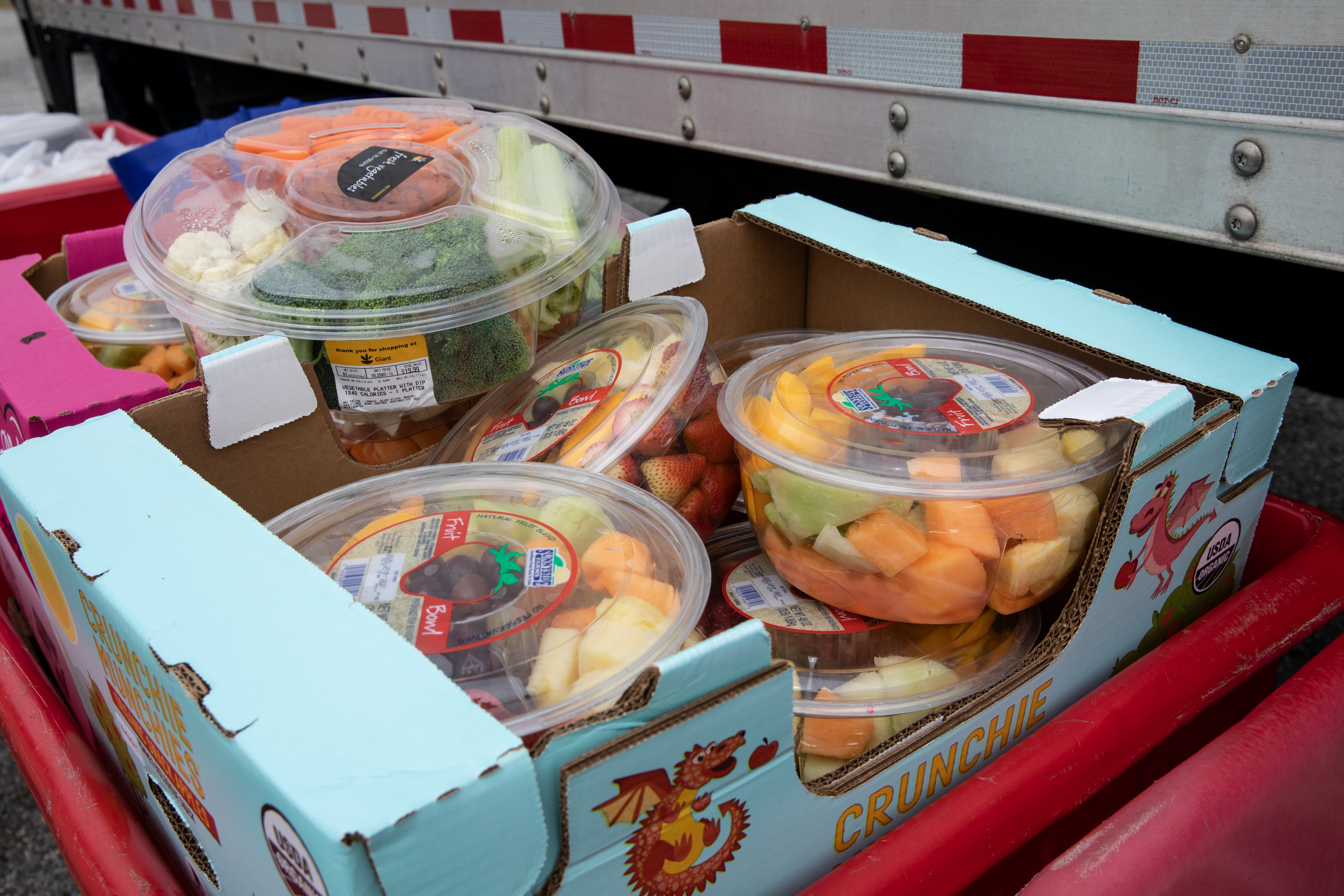Fruit and vegetables distributed to those in need