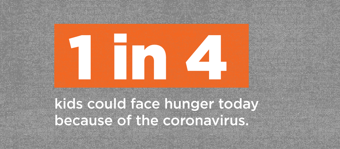 1 in 4 children can face hunger this year due to Coronavirus