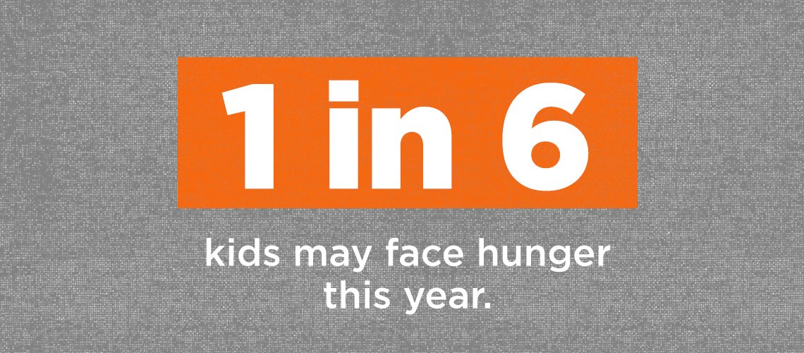 1 in 6 kids may face hunger this year
